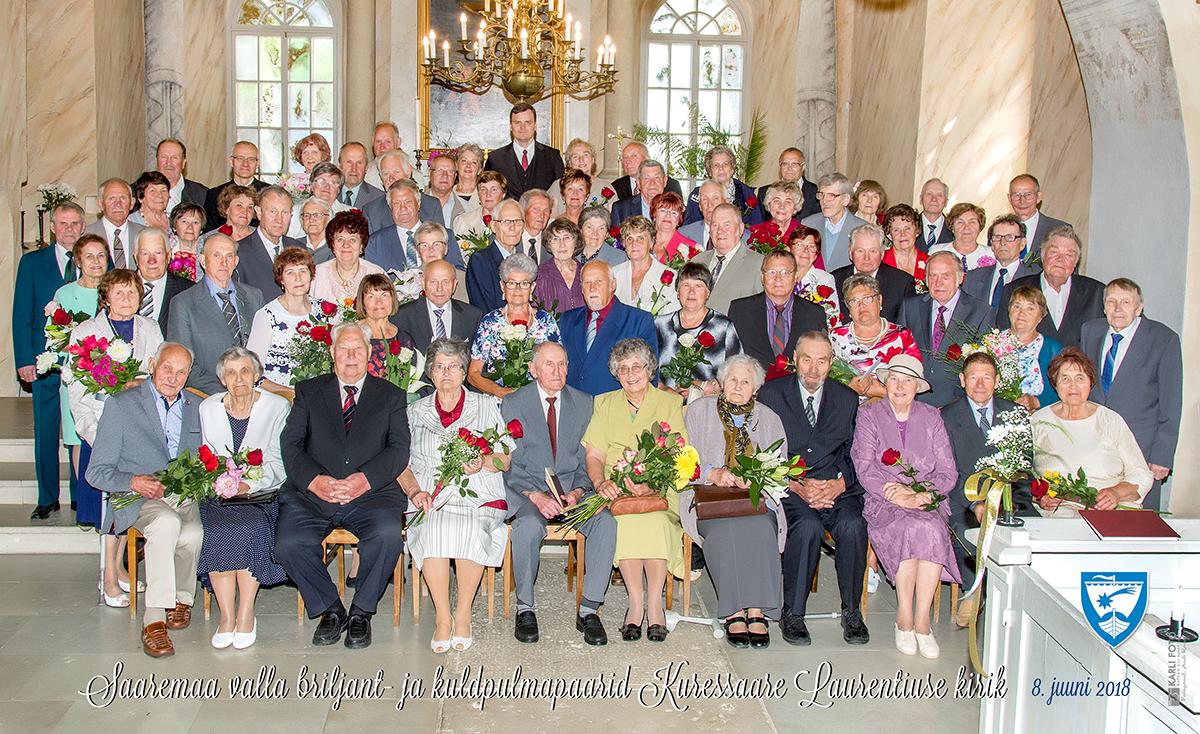 Väärikate abielupaaride õnnitlemine 08.06.18