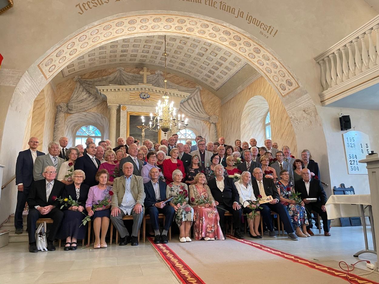 Väärikate pulmapaaride õnnitlemine 11.08.2021